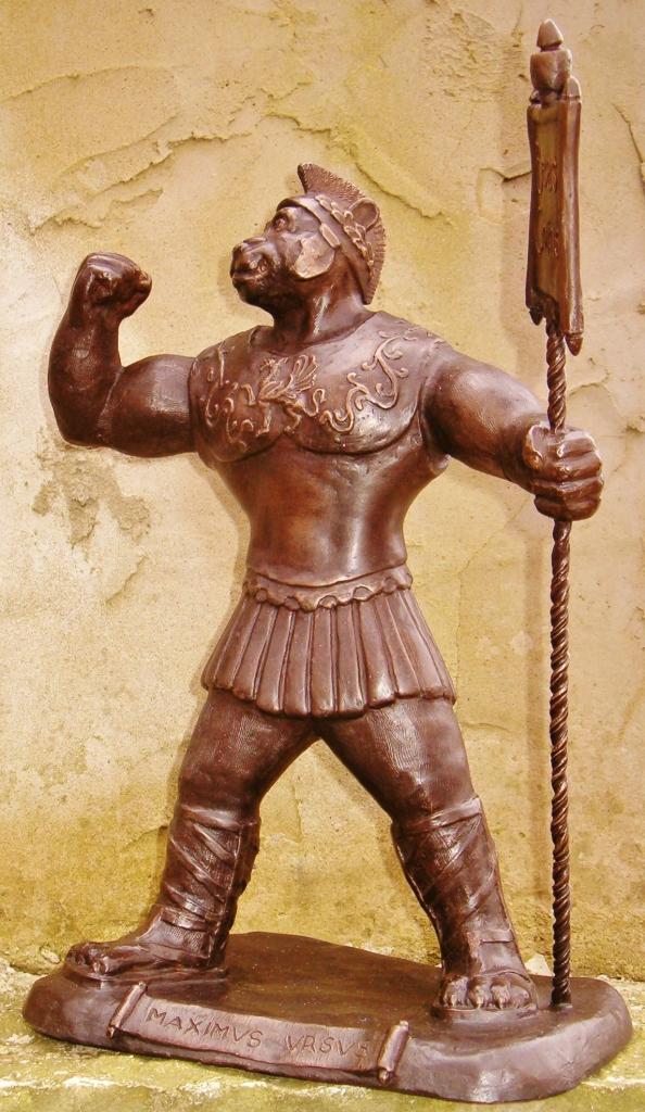 """Maximus Ursus"", Bronze, 16"", for Beast Coins"