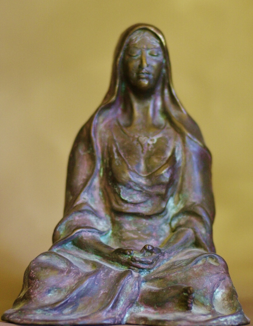 """The Divine Mother"", bronze, 9"" tall"