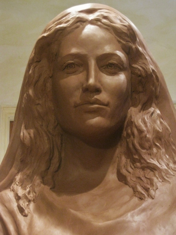 Detail of Mary,  Life-size Clay